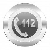emergency call chrome web icon isolated