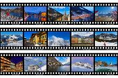 Frames of film - mountains ski Austria images (my photos) - nature and sport background