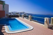 Santorini view - Greece (Firostefani) - vacation background