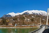 Funicular in Innsbruck Austria - travel and technology background