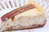 Piese Of Rhubarb Cheese Cake