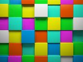 Abstract pattern of  square color pieces illustration