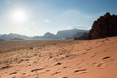 Mountains In Sunset In Wadi Rum