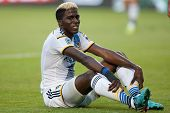 CARSON, CA - OCT 19: Gyasi Zardes during the Los Angeles Galaxy MLS game against the Seattle Sounders on October 19th 2014 at the StubHub Center.
