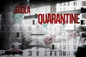 Chemists in protective suits working against ebola word cluster