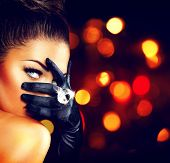 pic of black eyes  - Beauty Fashion Glamorous Model Girl Portrait - JPG