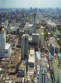 Panoramic View To The Bangkok Skyline