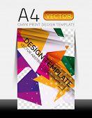 Vector A4 CMYK Modern Flyer Design
