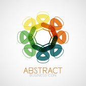 Symmetric abstract geometric shape, business symbol or logo design, loop