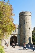 Tourists Near Gate Of Vorontsov Palace In Crimea
