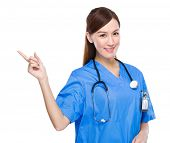 Doctor with finger point up