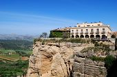 picture of parador  - Parador overlooking the gorge Ronda Andalusia Western Europe - JPG