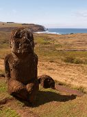 Child Statue On Easter Island