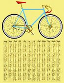 stock photo of bicycle gear  - 2015 calendar with fixed gear bicycle  - JPG