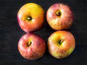 Four Red Apples, Belle De Boskoop