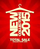 New collections 2015 banner, sale collections 2014.