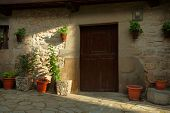Fragment of old house in Potes, Spain