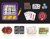 casino and gambling tools icons
