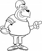 Cartoon Gorilla Football Player
