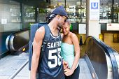 African man leave girlfriend at railway station