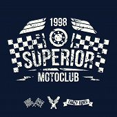 Emblem Of The Motorcycle Club In Retro Style