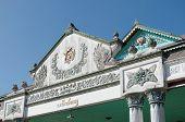 Top of Bangsal Pagelaran the front hall of Yogyakarta Sultanate Palace