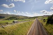 Railway Tracks Near Kirkby Stephen, Cumbria