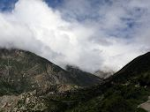 Monsoon Clouds In Dry Upper Himalayas