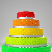 3d image of colorful wedding cake
