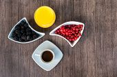 Breakfast With Coffee,orange Juice And Berries