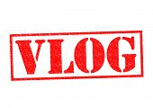 Vlog Rubber Stamp