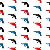 Revolver Symbol Seamless Pattern