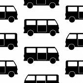 Minibus Symbol Seamless Pattern