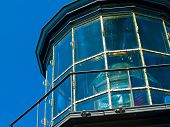 stock photo of mear  - Cape Meares Lighthouse Glass Dome on the Oregon Coast - JPG