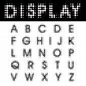 original vector halftone dotted raster font