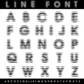 vector blurry halftone alphabet with horizontal strips
