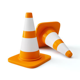 image of cone  - Under construction concept design background  - JPG