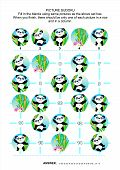 pic of panda bear  - Picture sudoku puzzle 5x5  - JPG