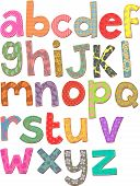 image of stitches  - A set of lowercase letters of the alphabet - JPG
