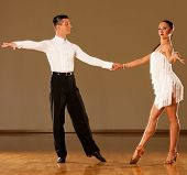 picture of samba  - latino dance couple in action  - JPG