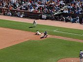 Giants Aaron Rowand Slides Hands First Though First To Beat Close Throw