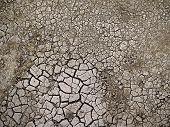 stock photo of drought  - Cracked barn ground - JPG
