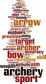 stock photo of fletching  - Archery word cloud concept - JPG