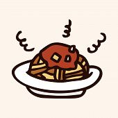 picture of high calorie foods  - Fast Food Spaghetti Flat Icon Elements - JPG