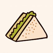 pic of high calorie foods  - Fast Food Sandwich Flat Icon Elements - JPG