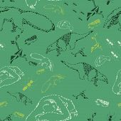 picture of ant  - Green pattern with ant - JPG