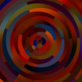 picture of surrealism  - Weird colorful circles - JPG
