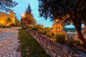 picture of serbia  - Belgrade fortress and Kalemegdan park at night Belgrade Serbia - JPG