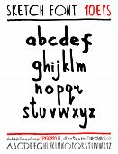 image of handwriting  - English handwriting alphabet - JPG