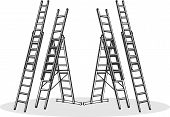 pic of step-ladder  - Various aluminum ladders for home and professional - JPG